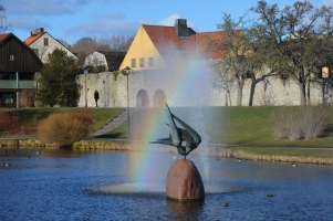 Rainbow in Visby